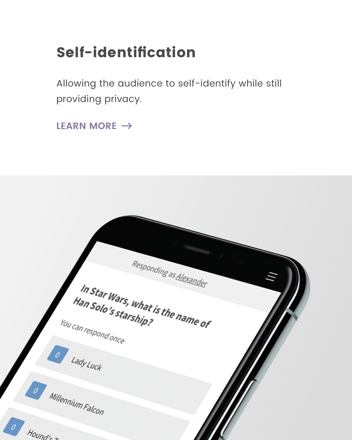 Self-identification as a participant